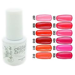 yemannvyou®sequins uv Farb GelNagellack no.1-12 (5 ml, farblich sortiert)
