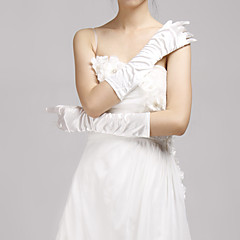 Elbow Length Fingertips Glove Elastic Satin Bridal Gloves / Party/ Evening Gloves Spring / Summer / Fall / Winter