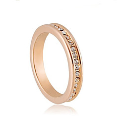 High Quality Alloy 18K Gold Plated With Crystal Ring