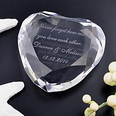 כלה חתן מתנות חתיכה / סט פריטי קריסטל חתונה יום שנה קריסטל מותאם אישית פריטי קריסטל קופסאת מתנה