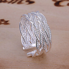 Band Rings Cuff Ring Adjustable Open Fashion European Alloy Jewelry Silver Jewelry For Party Daily Casual 1pc