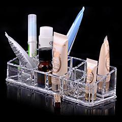 Ukládání make upu Kosmetická taška / Ukládání make upu Plast / Akrylát Jednobarevné 17.0 x 6.0 x 4.0 Piškot