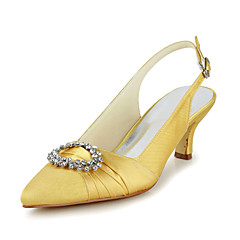 Satin Wedding Occasion Chunky Heel Sling Back & Pumps Sandals & Heels(More Colors)