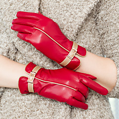 Wrist Length Fingertips Glove Leather Party/ Evening Gloves / Winter Gloves Spring / Fall / Winter