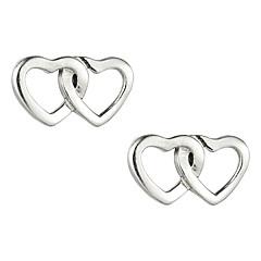 Glamorous Sterling Silver Heart Shaped Stud Earrings For Women