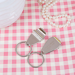 Rostfritt Stål Nyckelrings Favors-6 Piece / Set Nyckelband Classic Theme Personlig Silver