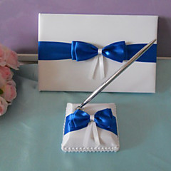 Guest Book / Pen Set Satin Beach Theme / Classic ThemeWithBow