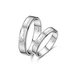 Ring Women's / Men's / Couples' / Unisex Sterling Silver Sterling Silver Love 6 / 7 / 8 / 8½ / 9 / 9½ / 10 / 10¼ / 10½ SilverColor &