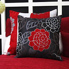 Sæt med 2 Kina Flower Jacquard Polyester Dekorative Pillow Cover