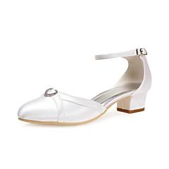 Satin Women's Wedding Chunky Heel Heels Shoes(More Colors)