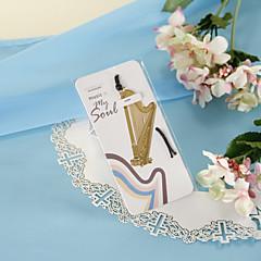Gouden Harp Bookmark met huid touw
