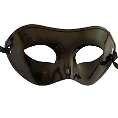 Maske Cosplay Festival/Højtider Halloween Kostumer Sort Ensfarvet Maske Halloween / Karneval / Nytår Unisex PVC