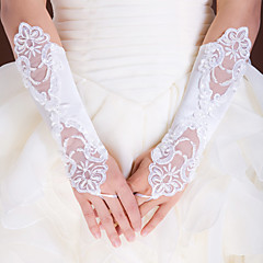 Elbow Length Fingerless Glove Elastic Satin Bridal Gloves / Party/ Evening Gloves Spring / Summer / Fall