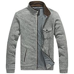 Lesmart Heren Opstaand Lange mouw Trui & Vest Grijs - JX13142