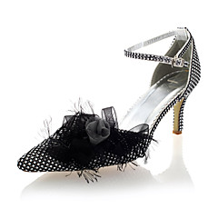 Women's Wedding Shoes Heels/Closed Toe Heels Party & Evening/Wedding Black