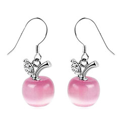 Europe-Style Opal Slivery Women's Alloy Drop Earring(1 Pair)(White,Pink)
