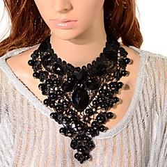 Žene Choker oglice Ogrlice s privjeskom Lančići Kristal Dragi kamen Crn Jewelry Halloween