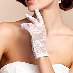 Wrist Length Fingertips Glove Lace Bridal Gloves Spring / Summer / Fall