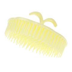 Yellow Rounded Shampoo Comb