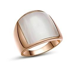 Anéis Casamento / Pesta / Diário / Casual Jóias Chapeado Dourado Anéis Grossos7 / 8 / 9 Dourado / Prateado