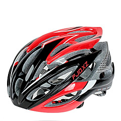 FJQXZ Ultraleve 26 Vents PC + EPS Red Capacete de Ciclismo