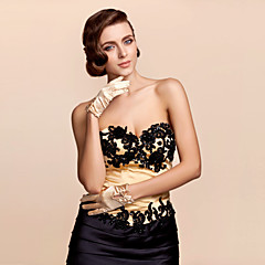 Wrist Length Fingertips Glove Satin Bridal Gloves / Party/ Evening Gloves Spring / Summer / Fall Bow