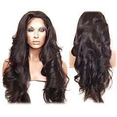 20inch peruano Virgin cabelo humano Full Lace Wigs Natural da linha fina