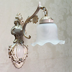 Wandleuchte, 1 Light, Classic, Metall, Glas-Malerei