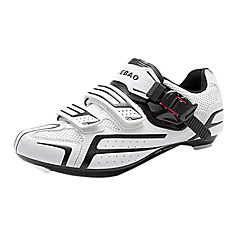 TIEBAO Unisex Branco + Preto Alta Power Holding Road Bike ciclismo sapatos