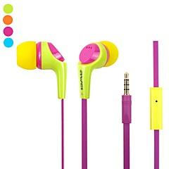 Fashion AWei Q6i  3.5mm Plug In-Ear Aluminum Alloy Super Bass  Microphone Earphones-(Yellow/  /Blue)