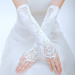 Elbow Length Fingerless Glove Tulle Bridal Gloves / Party/ Evening Gloves Spring / Summer / Fall White