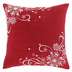 Traditionel Red One Polyester Dekorative Pillow Cover