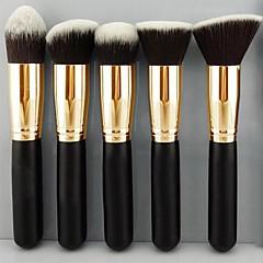 Pro MakeUp Cosmetic Set Eyeshadow Foundation Wood Brush Blusher Tools 5 PCs SV000967