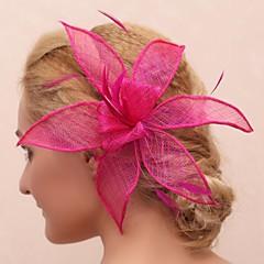 Femme / Jeune bouquetière Plume / Tulle Casque-Mariage / Occasion spéciale / Extérieur Fleurs