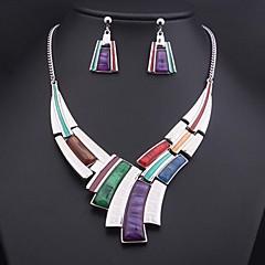 Women's Colored Gemstone (Necklace&Earrings) Jewelry Set