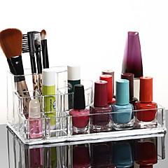 Ukládání make upu Kosmetická taška / Ukládání make upu Plast / Akrylát Jednobarevné 17x10x6.5 Piškot