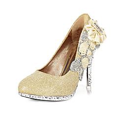 Women's Wedding Shoes Heels/Round Toe Heels Wedding/Party & Evening Red/Gold