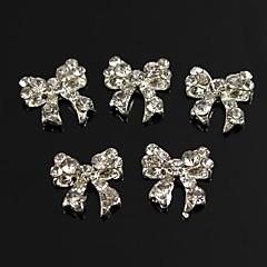 10st bling charme strik vol heldere strass 3d legering nail art decoratie