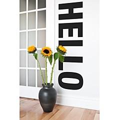 jiubai ™ großes Hallo Wortkunstausgangsdekoration Wandaufkleber Wandtattoos, 43 * 152cm