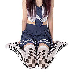 Socks/Stockings Punk Lolita Lolita Lolita White / Black Lolita Accessories Stockings Print For Women Polyester