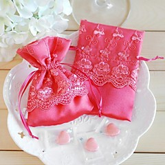 Cute Brocade Faovr Bags With Lace - Set of 12 (More Colors)