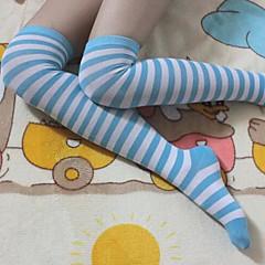 Sokken en kousen Schattig / Matroos Lolita Lolita Wit / Blauw Lolita Accessoires Kousen Gestreept  Voor Dames Nylon