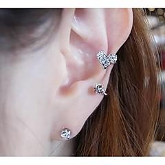 Boucles d'oreille goujon Poignets oreille Bijoux Femme Mariage Soirée Quotidien Décontracté Alliage Imitation de perle Strass Argent