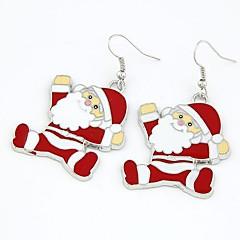 Vánoce Santa Claus náušnice