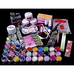 71PCS Acrylic Powder Brush Glitter Clipper File Nail Set