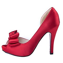 Women's Wedding Shoes Heels/Peep Toe/Platform Heels Wedding/Office & Career/Dress/Casual/Party & Evening Black/Red/White