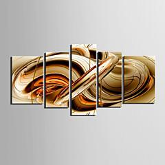 Leinwanddruck Kunst Abstrakt Sirup Set von 5