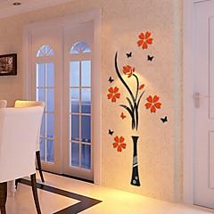 3d muur stickers muur stickers, acryl kristal bloemen diy muurstickers