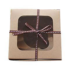 Simple Kraft Paper Cake Favor Boxes