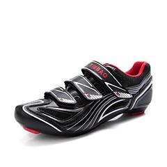Tiebao Tênis para Ciclismo Sapatos para Ciclismo Homens Anti-Shake Ventilação Massagem Respirável Ao ar Livre Bicicleta de EstradaPele